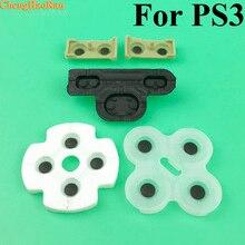 2 10 bộ Cho Ps3 Bộ Điều Khiển dẫn điện cao su dành cho PlayStation 3 Cao Su Mềm Silicon Dẫn Điện Nút Miếng Lót Thay Thế