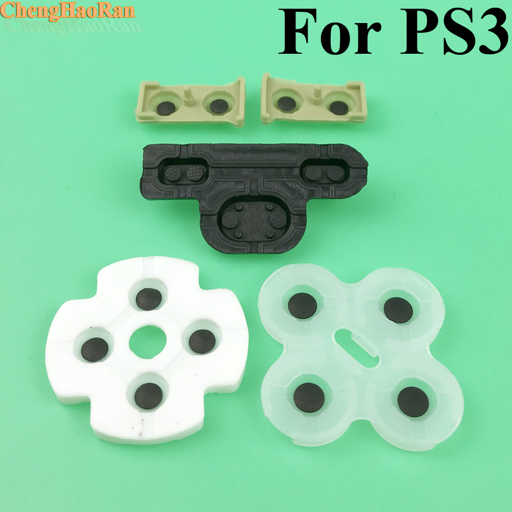 2 10sets For ps3 Controller conductive rubber for Playstation 3 Soft Rubber Silicon Conductive Button Pad Replacement-in Replacement Parts & Accessories from Consumer Electronics