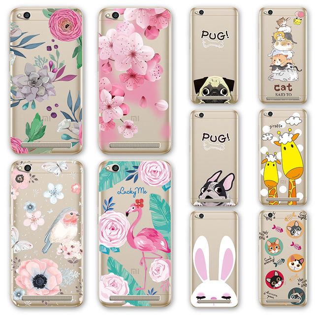 new concept 1ebcd 6bd0d US $1.16 |Aliexpress.com : Buy For Xiaomi Redmi 5A 3D Relief Phone Case  Floral Cartoon Peach Lace Redmi 5 A 5.0