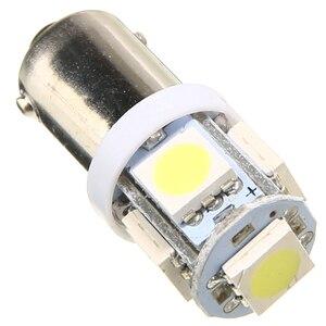 Image 3 - For Car Lighting 10PCS/Lot T11 BA9S 5050 5 SMD LED White Light Bulb Car light Source Car 12V Lamp T4W 3886X H6W 363 Mayitr
