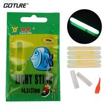 Goture 100pcs/lot Chemical Luminous Fishing Lights Fishing Rod Tip Float Fish Bobber in Green Colour Glow Stick