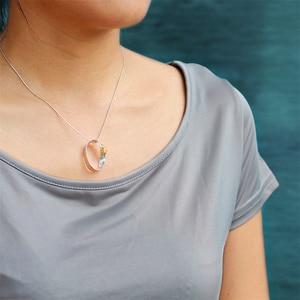 Image 4 - 蓮楽しいリアル 925 スターリングシルバー手作りのクリエイティブ勤勉アリデザインネックレスなし女性のためのギフト