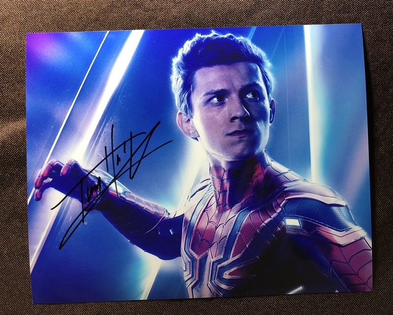 Us 59 99 Hand Signed Tom Holland Avengers Endgame Autographed Photo 8 10 Inches 042019a In Cards Invitations From Home Garden On Aliexpress Com