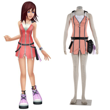 High Quality Anime Kingdom Hearts Kairi Cosplay Costume Halloween Party Women Daily Clothing Full Set Stocks Item
