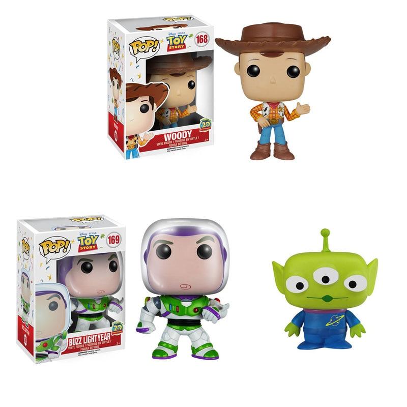 Funko Pop Cartoon Movie Toy Story Woody Buzz Lightyear Alien Vinyl