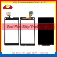For Sony Xperia L S36h S36 C2104 C2105 Touch Screen Digitizer Outer Glass Lens Panel Black