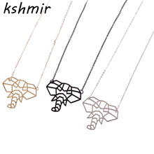 Accessories wholesale fashion new geometry stereo machine ms elephant short necklace collocation