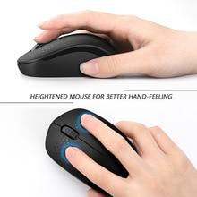 SeenDa Noiseless 2.4G Wireless Mouse Portable Optical Mice for Notebook PC Laptop Mini Silent Mouse 1600DPI Ergonomic Vertical