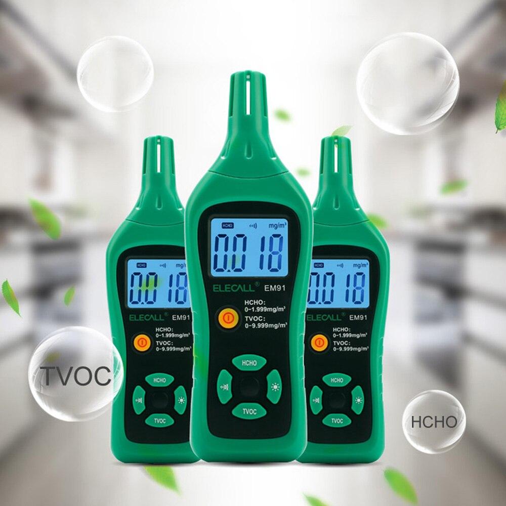 ELECALL EM91 Digitale Smart Formaldeide Rivelatore di Gas Contatore del Gas Formaldeide Tester Del Sensore HCHO TVOC Meter Air Analizzatori