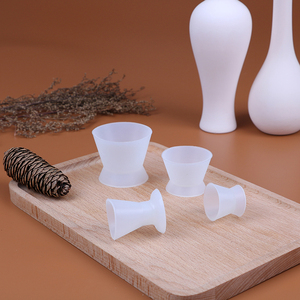 Image 4 - 4Pcs/set Self solidifying Cups Dental Lab Silicone Mixing Cup Dentist Dental Medical Equipment Rubber Mixing Bowl