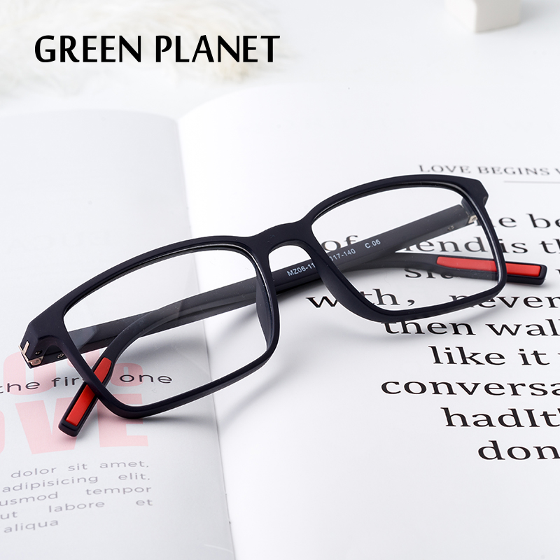 Men Plastic Titanium Optical Glasses Frame Safety Myopia Spring Hinge Eyeglasses#MZ06-11