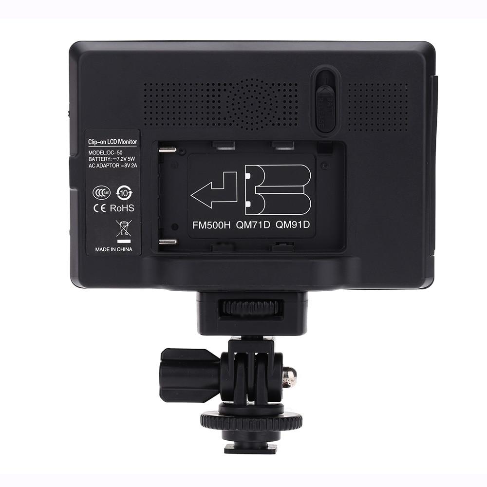 Viltrox DC-50 Portable 5-inch HD-clip-on LCD HDMI AV-camera - Camera en foto - Foto 6