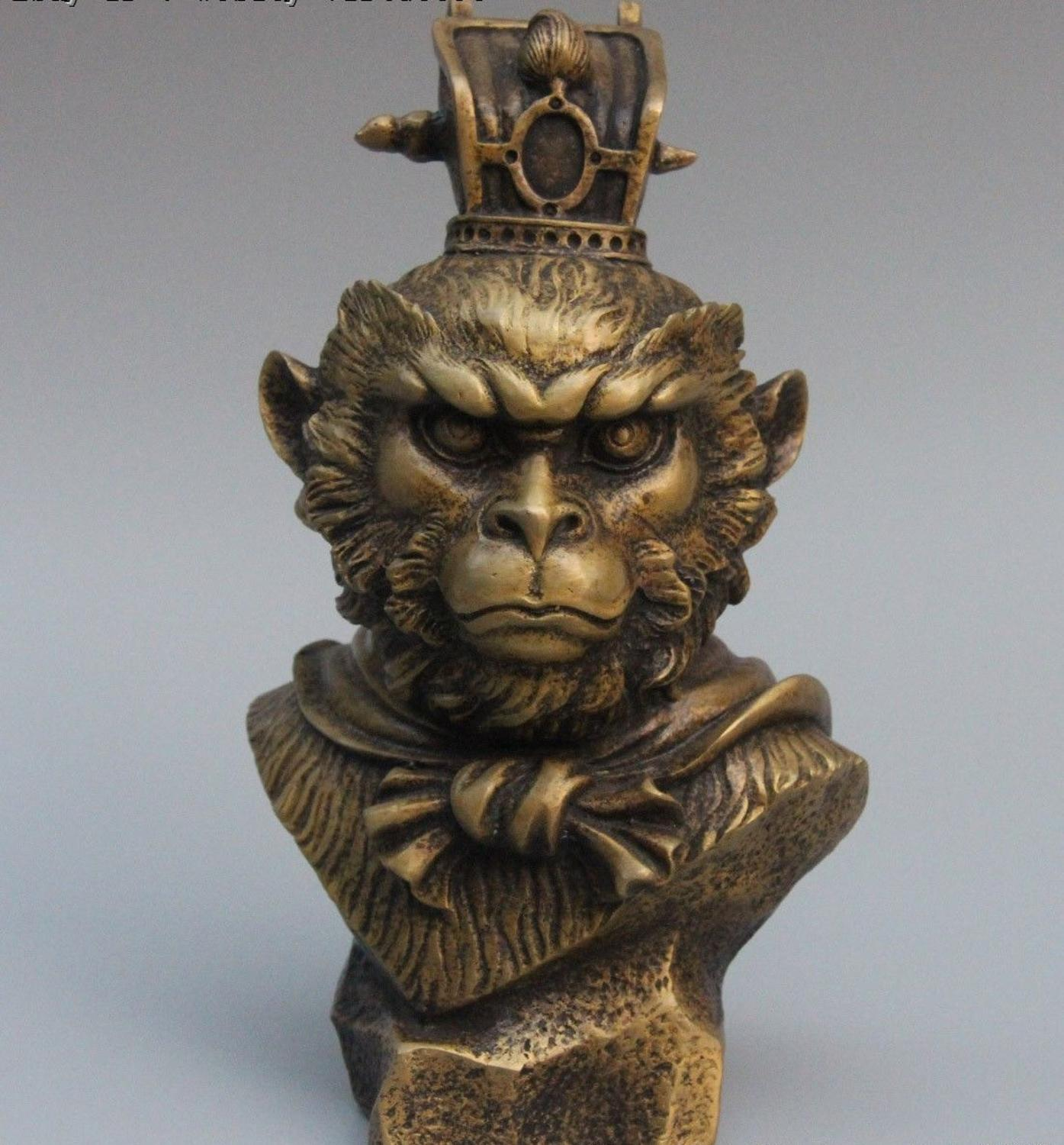 China Myths Pure Bronze Copper Monkey Kings mahatma Sun Wukong SunWuKong StatueChina Myths Pure Bronze Copper Monkey Kings mahatma Sun Wukong SunWuKong Statue