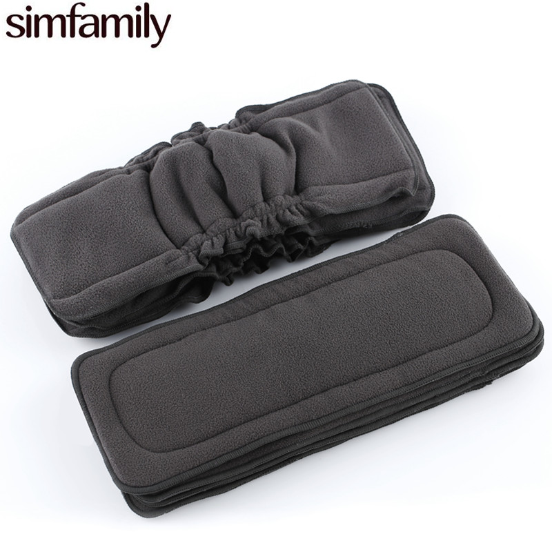 [simfamily]1PC Reusable Bamboo Charcoal Insert 4layer Baby Cloth Diaper Mat Nappy Inserts Changing Liners Each Insert