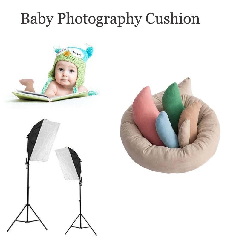 2pcs//Set Cotton Baby Photography Pillows Infant Photo Props Posing Beans Cushion