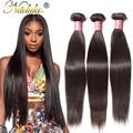 Nadula Cabelo 3 pçs/lote Malaio Feixes de Cabelo Em Linha Reta 8-30 polegada Reta Virgem Malaio Produtos para o Cabelo 100g Humano Extensões de cabelo