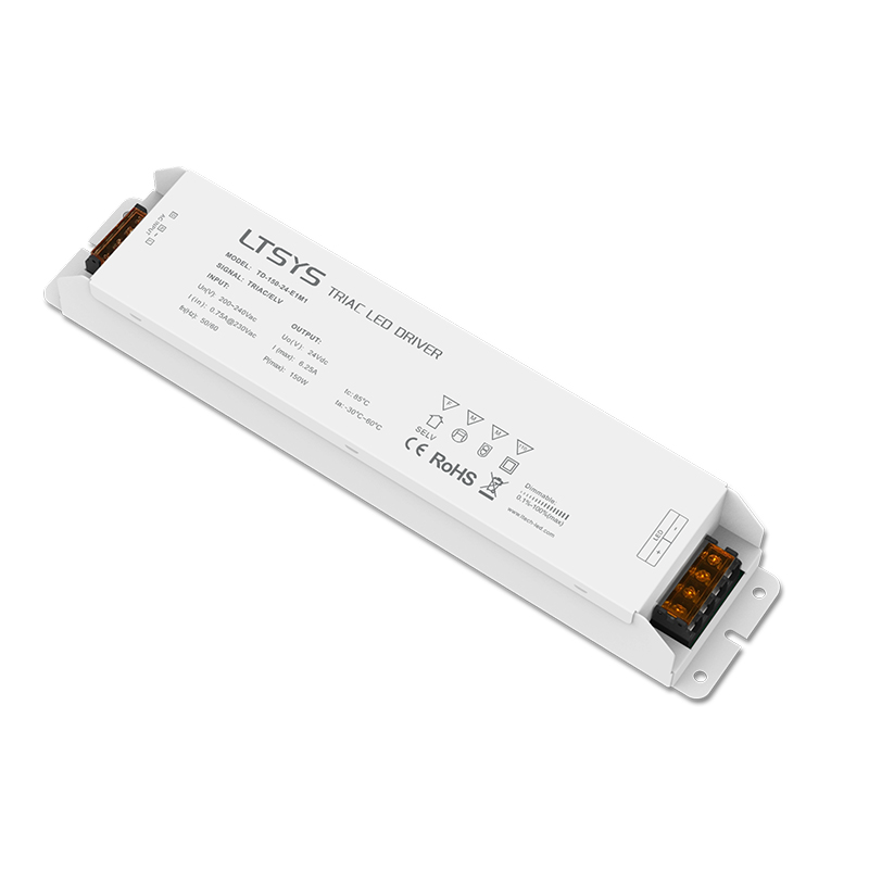 New LTECH Led Triac Dimming Driver TD-150-24-E1M1; 100-240V input,Output 150W 24VDC constant voltage Triac Dimmable LED Driver kvp 24200 td 24v 200w triac dimmable constant voltage led driver ac90 130v ac170 265v input
