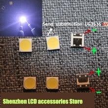 200 adet/grup için LCD TV tamir alternatif LG led TV arkaplan ışığı şerit ışıkları ışık yayan diyot 3535 SMD LED 6V