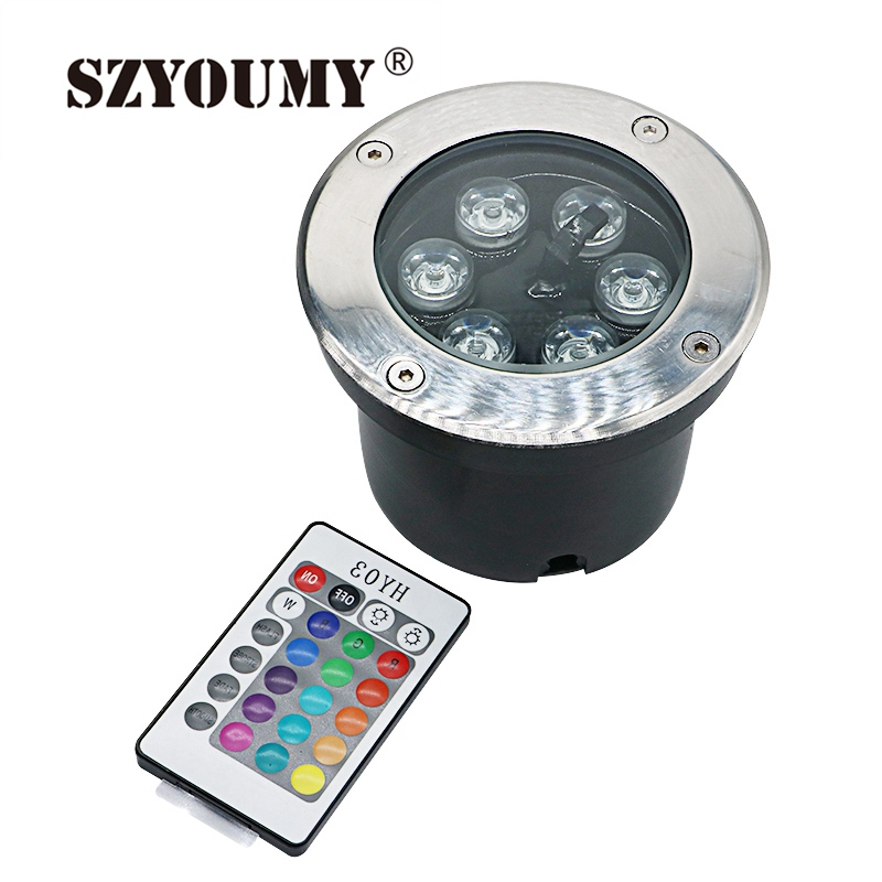 все цены на SZYOUMY IP67 RGB Underground lighting stainless steel outdoor led 6W Step Spot inground Floor Garden Recessed 12V Deck lights