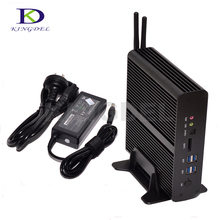 Без вентилятора Мини-ПК HTPC NUC Intel i7 5550U Intel HD Графика 6000 2 * lan 2 * HDMI игровых ПК Barebone компьютер NC960