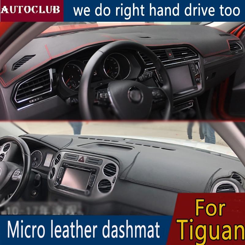 For Volkswagen VW Tiguan 2007 2019 Leather Dashmat