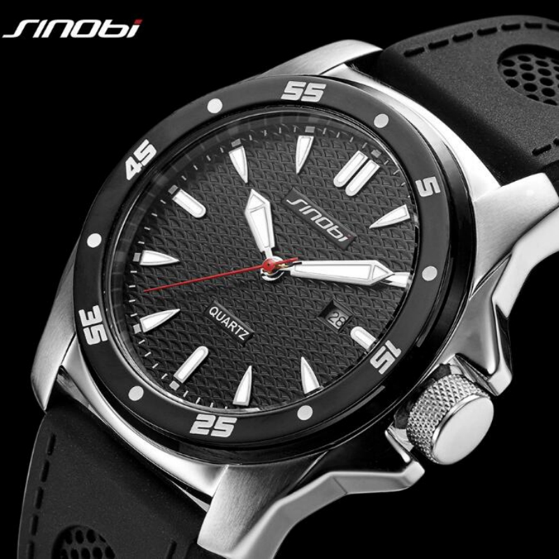 SINOBI Sport Watch Men Watch Waterproof Men's Watch Luminous Military Watches Men Clock saat erkek kol saati relogio masculino soxy brand fashion men s watch men watch military sport watch auto date watches clock saat erkek kol saati relogio masculino