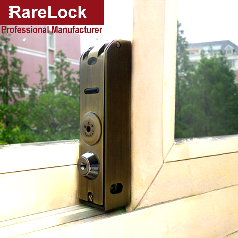 Rarelock Ms112 Baby Care Metal Window Alarm Lock For Glass Sliding
