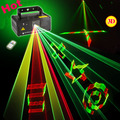 New IR Remote DMX 512 Mini 400 mW RGY Full Color Stage Iluminação Laser Scanner Dance Party DJ Show de Projetor luzes