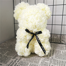 20/32cm Rose Bear Mold 200PCS Mini PE Artificial Flower Head for DIY Foam Luck