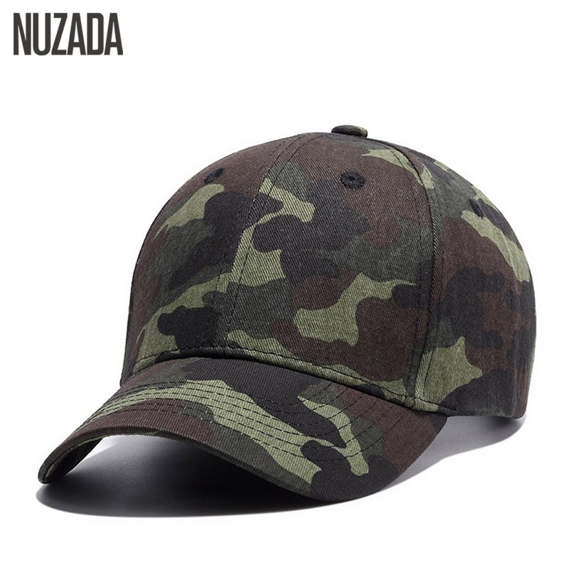 Brand NUZADA Quality Hip Hop Hats Spring Summer Men Women Baseball Cap Camouflage Snapback Bone High-Grade Cotton Sunscreen Caps