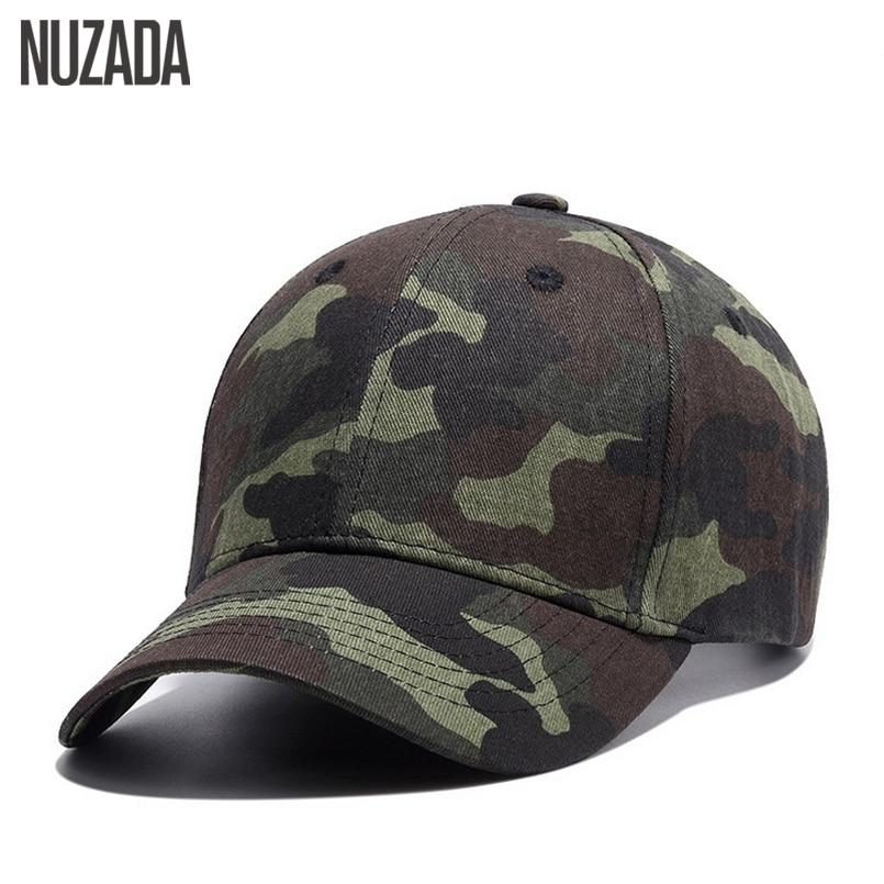 Brand NUZADA Quality Hip Hop Hats Spring Summer Men Women   Baseball     Cap   Camouflage Snapback Bone High-Grade Cotton Sunscreen   Caps