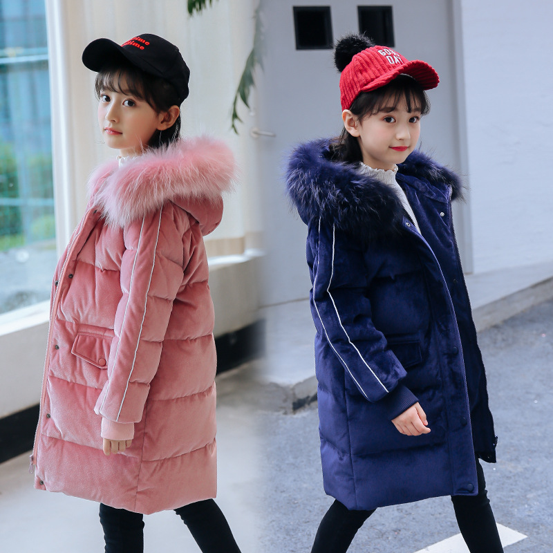 2018 Winter New Warm Girls Thick Down Jackets & Coats for Teenager Girls Kids Down Jacket Children 5-14Y Outerwear Clothes girls coat new 2017 fashion thicken outerwear coats solid kids warm jacket hooded girls winter jackets 5 14y children costume