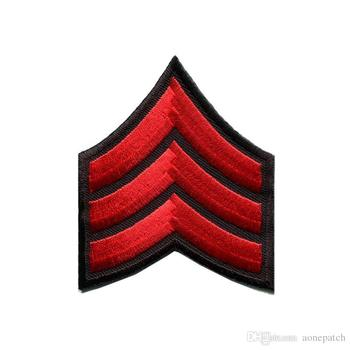 Nuevo epaulet con muchos colores, insignia militar de la Armada, insignia militar, rango de guerra, parche bordado de hierro