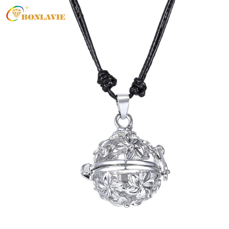 Newest Trendy Hollow Cage Pendant Pregnancy Pendant Necklace For Baby Sounds Chime Ball Mexican Bola Jewelry