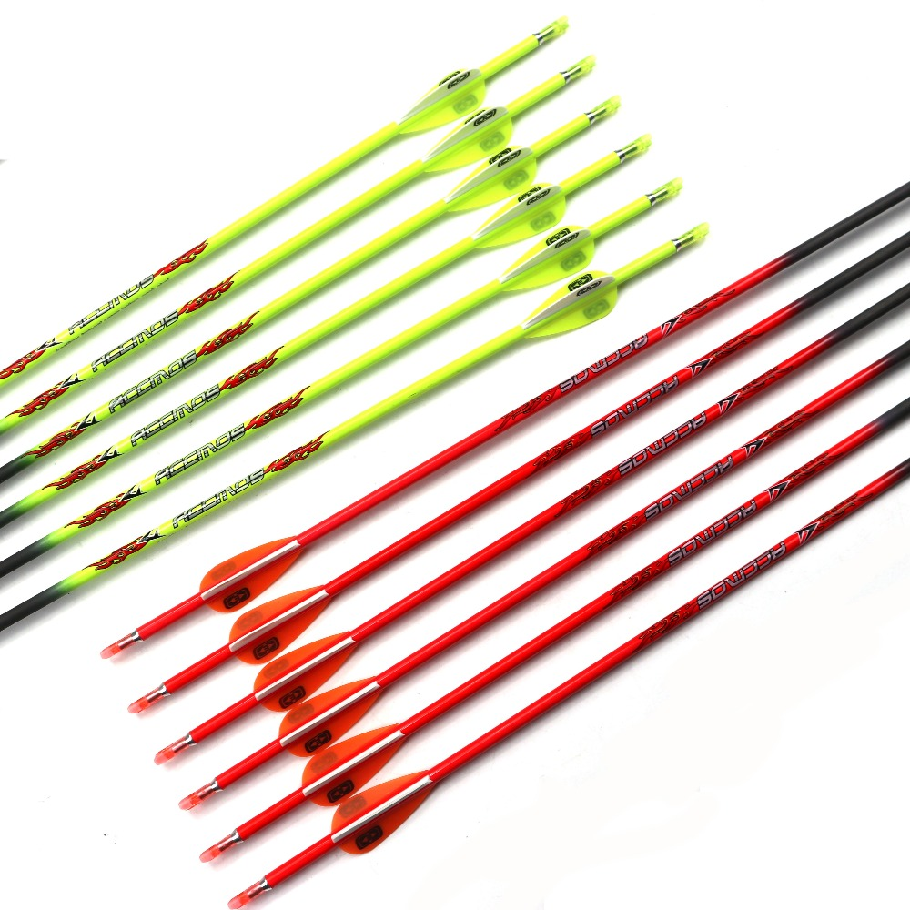 2019 Hottest Colorful Pure Carbon Arrow Spine 600 700 800 900 Id 4.2mm Archery Orange And Yellow For Compound /recuvre Bow Shoot Sports & Entertainment
