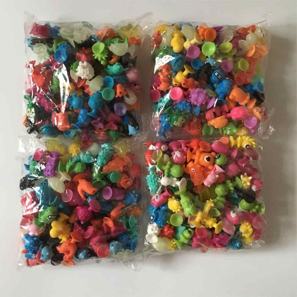 100pcs/lot kids toys Animal cupule suckers for kids  minifigures model doll mini action figure toys for children