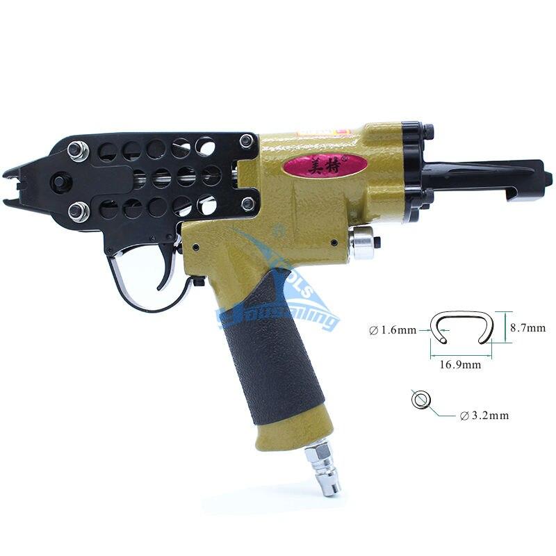 Alta Qualidade Pneumática SC760 C Forma Anel Alicate Ferramenta de Ar-tipo C Gaiola Máquina Prego Arma Grampeador Nailer
