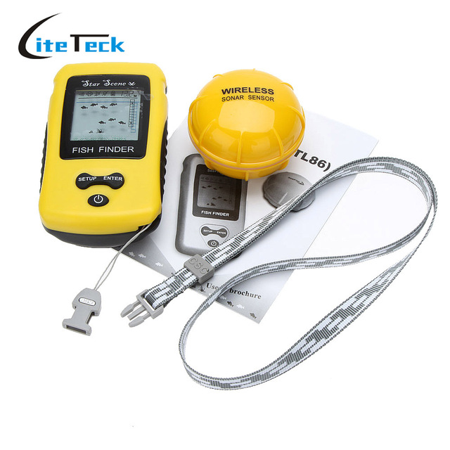 aliexpress : buy new portable lcd display wireless fish finder, Fish Finder