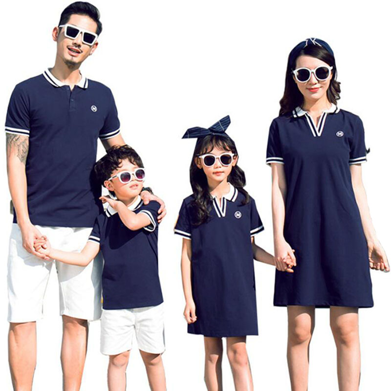 2019 Family Matching Outfits Family Look Mother And Daughter Dresses Summer Father Son T Shirts Family Clothes Mother/Father/kid