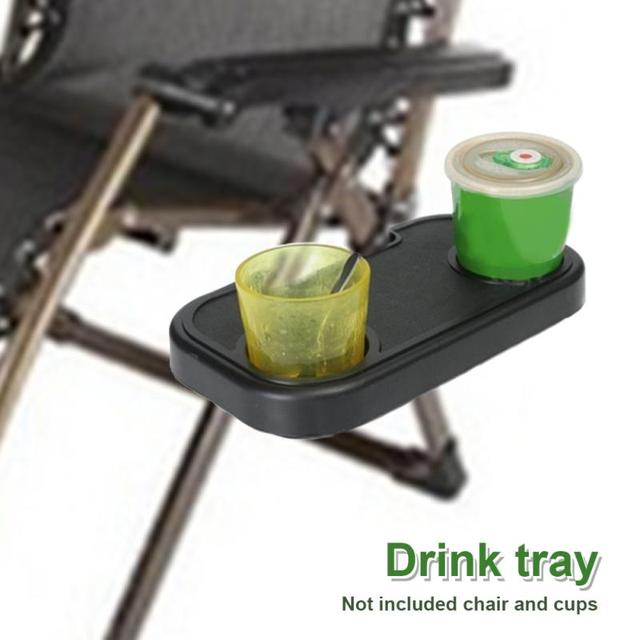 Portable Clip On Chair Side Table Cup Holder Side Table For Outdoor Garden  Fishing Camping