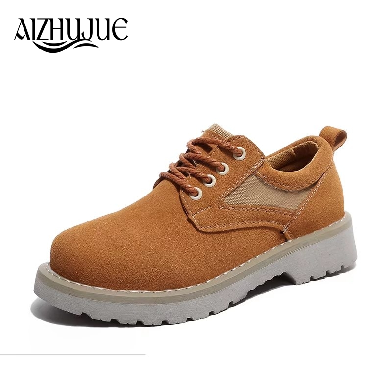 Oxford Shoes For Women Shoes 2018 Spring Autumn Lace-Up Woman Leather Martin Ankle Female Casual Shoes Flats Zapatos Mujer 2017 spring autumn new genuine leather lace up oxford shoes female thick bottom flats shoes europe style martin shoe obuv