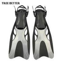 Aletas de natación para adultos zapatos de rana de natación ajustables de silicona equipo profesional de buceo abierto Snorkeling aletas largas de buceo