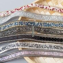 Бисером Rhinestons отделка гладить на бриллиант лента Обёрточная бумага отделкой швейные принадлежности cделай сам свадебный торт вечерние Декор куртка отделка для шитья