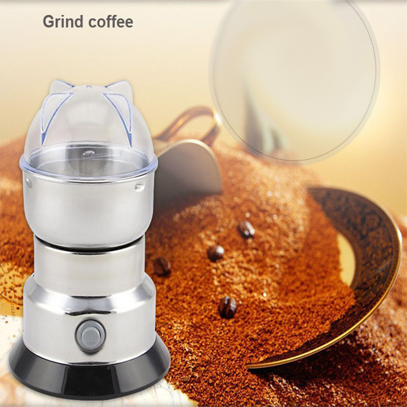 Electric Superfine Coffee Mill Grinder Powder Machine Household Flour Grain Mill Stainless Steel Bean Walnut Sesame Crusher chinese supplier stainless steel 2000g 2kg household electric swing grinder mill small powder machine food grinding machine