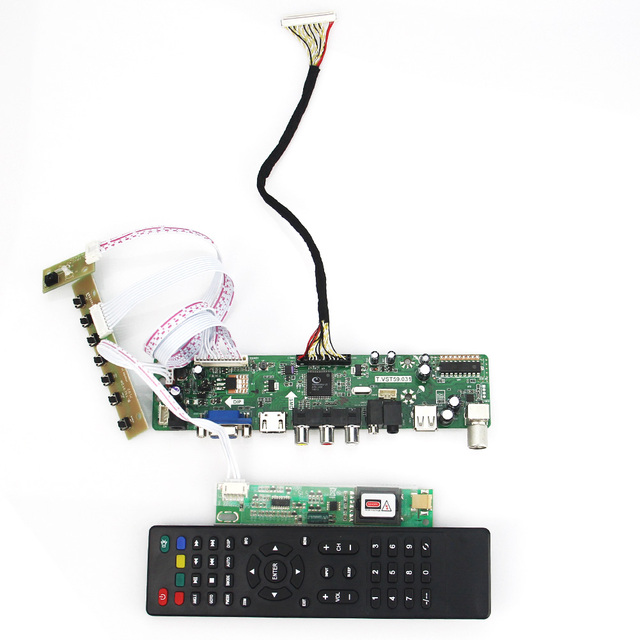 T. VST59.03 LCD/LED Placa de Driver de Controlador Para LTN154X1-L02 LTN154AT01 (TV + HDMI + VGA + CVBS + USB) Reutilizar Laptop LVDS 1280x800