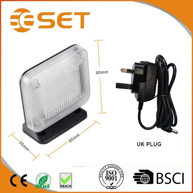 UK Plug Home Security Light auto-sensing Anti Theft TV Simulation Dummy TV Simulator Burglar Deterrent Device Light Sensor 3502080 canemu anti theft simulator