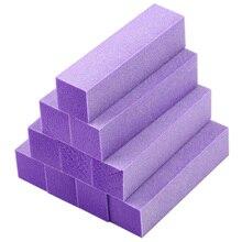 Fashion 10x Buffing Sanding Buffer Block Files Acrylic Pedicure Manicure Nail Art Tips (Color: Purple)