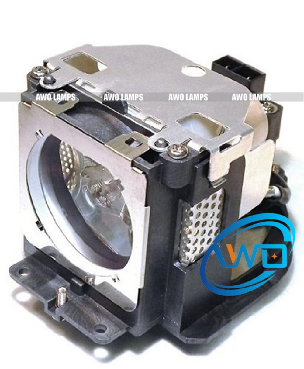 AWO Quality Compatible Projector Lamp inside POA-LMP103 with Housing for SANYO PLC-XU100/XU110/EIKI LC-XB40/XB40N plc xm150 plc xm150l plc wm5500 plc zm5000l poa lmp136 for sanyo compatible projector lamp bulbs with housing