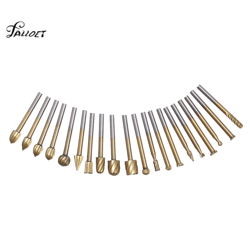 20pcs/lot HSS Routing Grinding Bits Tools Set Metal Milling Cutter Dirll Bit Dremel Engraving Tool Milling Cutters For Wood