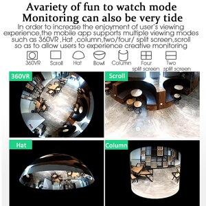 Image 3 - OUERTECH 3D WIFI панорамная Беспроводная умная IP камера с углом обзора 360 градусов и двухсторонним аудио VR 128 МП «рыбий глаз» с поддержкой домашней безопасности g